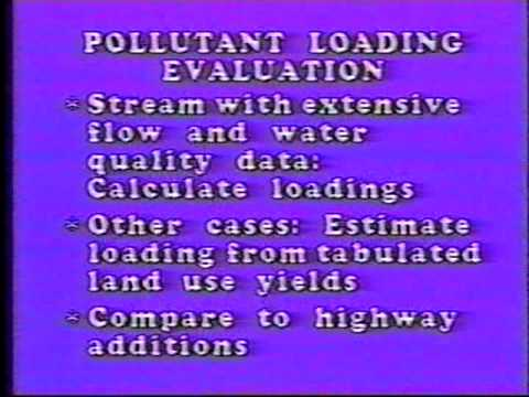 Highway Runoff Water Quality