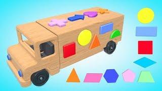 Геометрические фигуры для детей от 6 месяцев  Цвета Деревянные Игрушки Для Малышей   Паровозик Олли