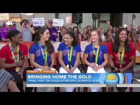 Final Five on the Today Show After Rio