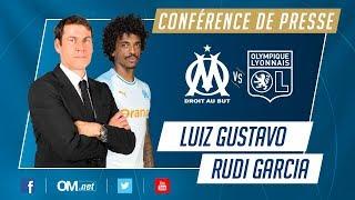 OM - OL l La conférence de Luiz Gustavo et Rudi Garcia
