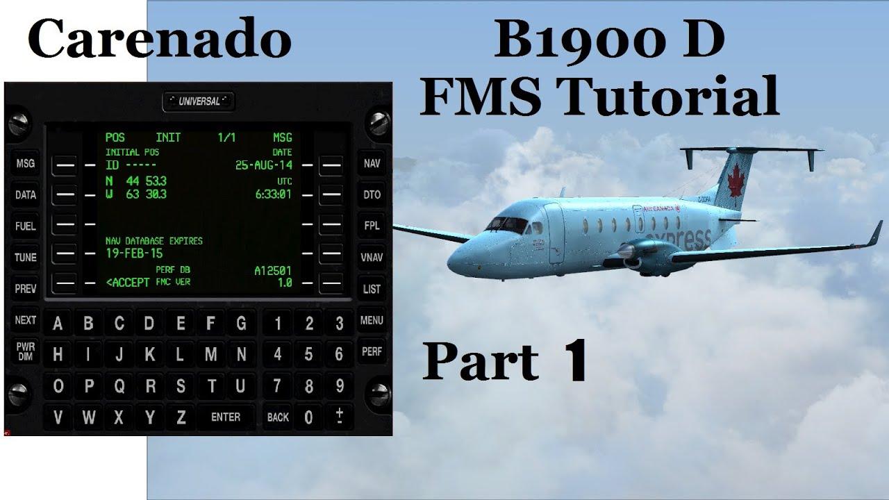 FSX Carenado B1900D FMS Tutorial - Initial Set Up