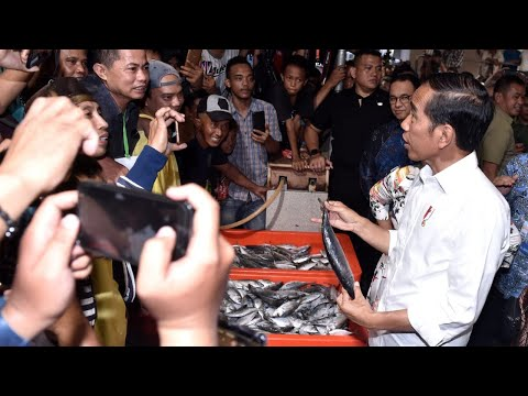 Presiden Resmikan Pasar Ikan Modern Muara Baru. Jakarta, 13 Maret 2019
