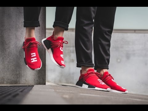 18ab24b6dd8fa Adidas NMD Human Race Red   Green Review - YouTube