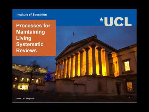 Living Systematic Reviews