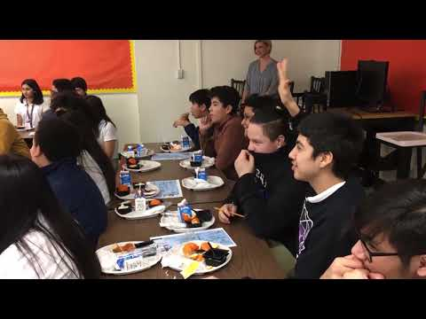 DFN:School lunch and National Engineers Week, DALLAS, TX, UNITED STATES, 02.20.2018