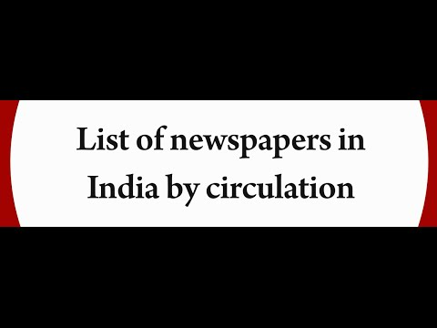 List Of Newspapers In India By Circulation