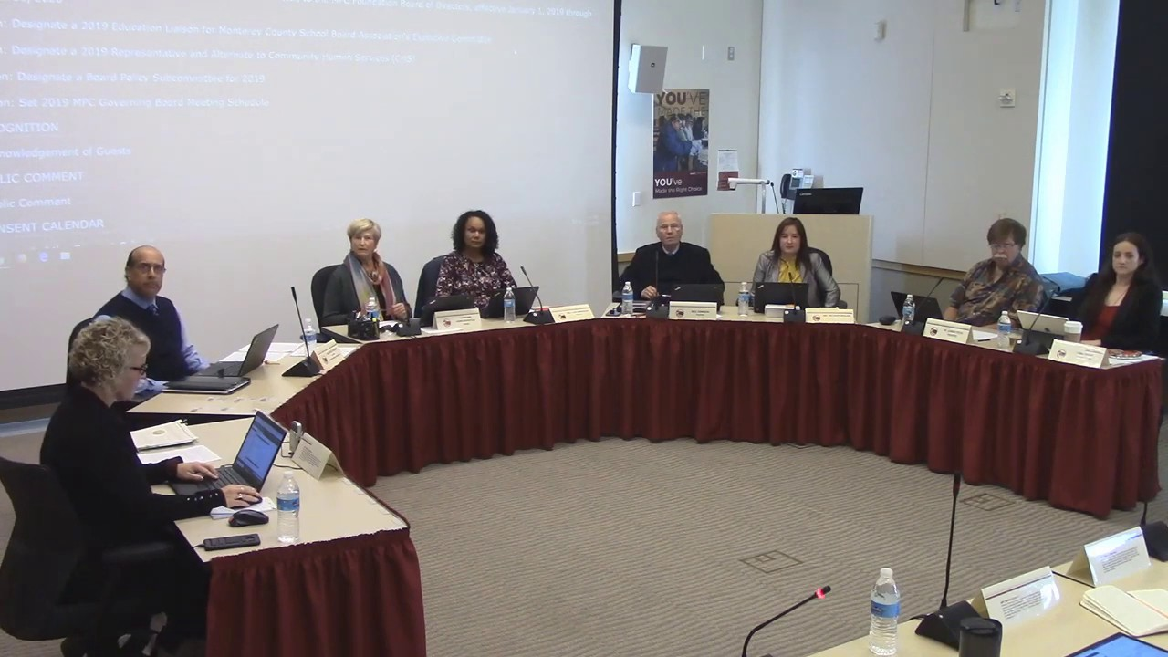 Monterey Peninsula College Board Meeting- December 2018