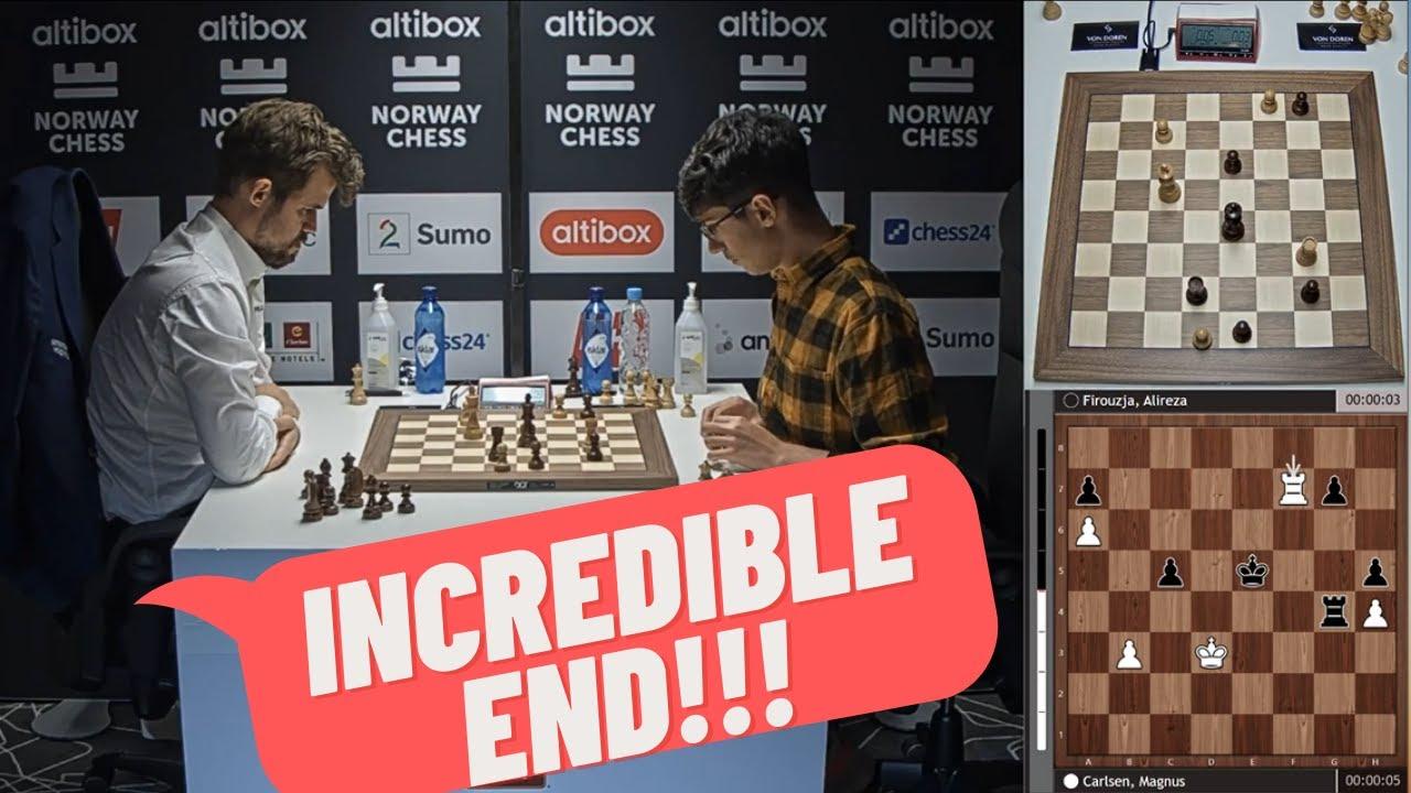 Download Magnus Carlsen vs Alireza Firouzja Armageddon Game | Norway Chess 2020