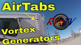 Airtab Vortex Generators For RV's...RV Fuel Saver....RV Wind Deflector...RVerTV