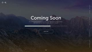 Web Design Speed Art - Modern Coming Soon in Adobe Xd