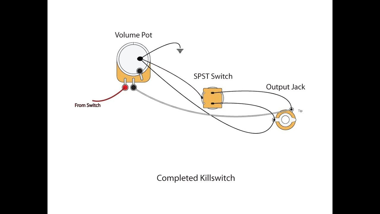 kill switch wiring diagram guitar