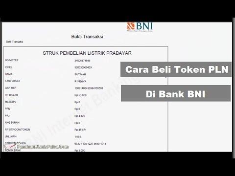 Cara Beli Token PLN Prabayar di BNI Internet Banking - YouTube