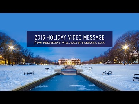 University of Maryland 2015 Holiday Greetings!