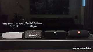 Bose Soundlink Mini 2 vs Marshall Emberton vs Anker Soundcore Boost vs JBL Flip 5 - Sound Battle