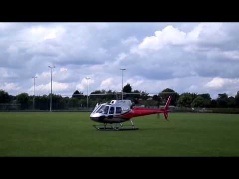 The Eurocopter AS350 Écureuil Oakham School Landing & Take Off Frank Bird Aviation
