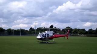 The Eurocopter AS350 Écureuil Oakham School Landing & Take Off Frank Bird Aviation