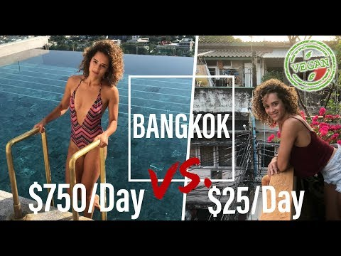 $750 Vs. $25/Day Bangkok | 137 Pillars Bangkok Luxury Hotels and Bangkok Budget Style (VEGAN)