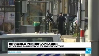 Brussels Terror attacks: explosions heard, man neutralised during police operation in Schaerbeek