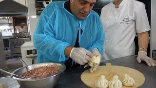 Приготовление национального грузинского блюда-ХИНКАЛИ.Жорж в Тбилиси