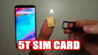 OnePlus 5T How to Insert SIM Card (Dual SIM)