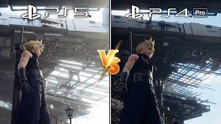 (PS5) FF VII Remake Intergrade vs. (PS4) FF VII Remake | Graphics Comparison