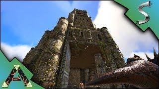 CASTLE ON THE HILL! FLOODED TUNNELS OF DEATH! - Ark: RAGNAROK [DLC Gameplay E2]