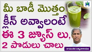 బాడీలో చెడు అంతా బయటకు వెళ్లి పోవాలంటే 3 జ్యూస్ లు 2 పొడులు | Manthena Satyanarayana | Health Mantra