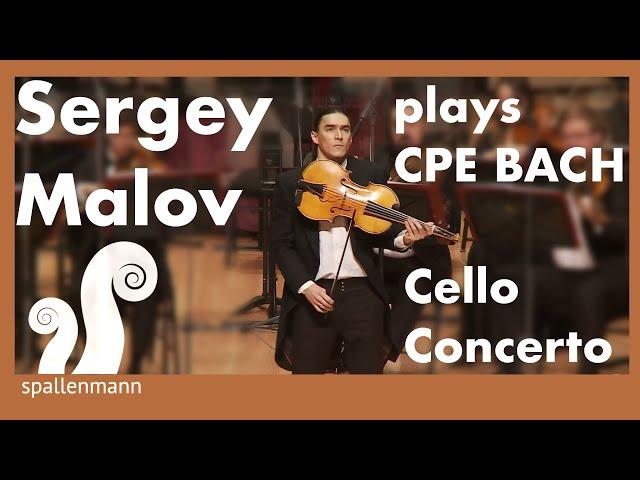 Sergey Malov plays CPE Bach Cello Concerto A Major on Violoncello da Spalla