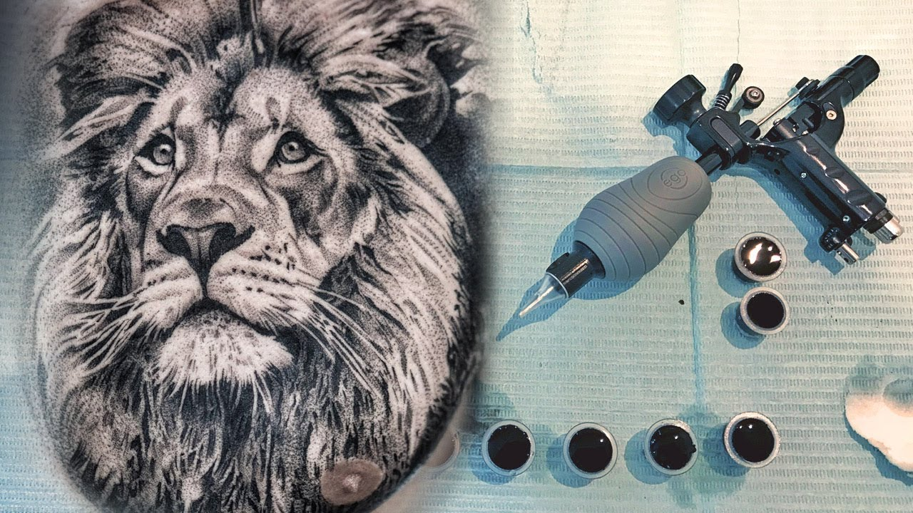 Tattoo Timelapse Photo Realism Lion Tattoo
