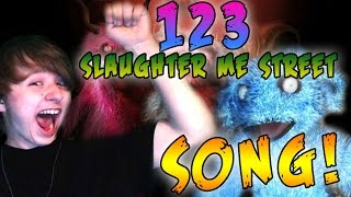123 SLAUGHTER ME STREET SONG (FOLLOW, GREET, WAIT, REPEAT) LYRIC VIDEO - REACTION! || 123 SMS SONG!
