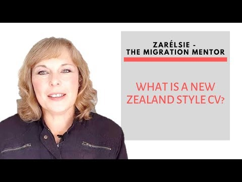 Jobs For Immigrants - What Is A New Zealand Style CV?