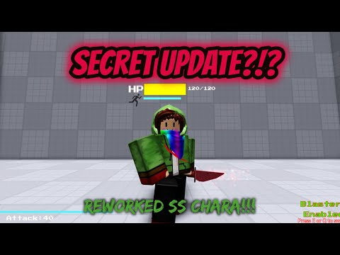 Ss Chara Rework And Faces Roblox Ss Secret Test Youtube