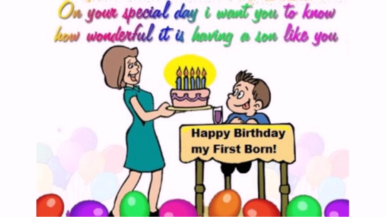Happy Birthday To My First Born Son | WishesGreeting