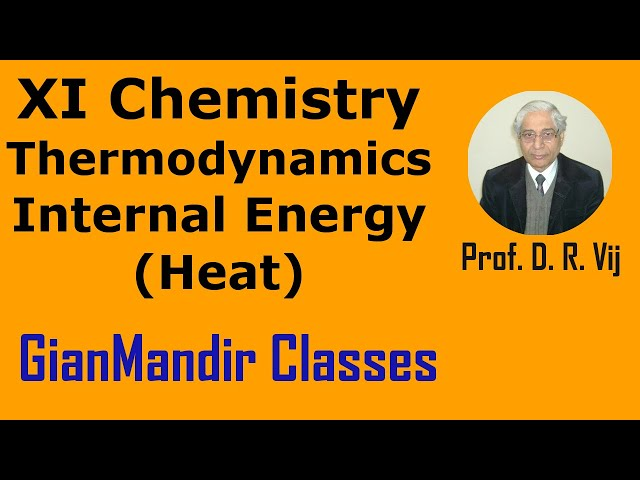 XI Chemistry - Thermodynamics - Internal Energy, Heat by Ruchi Mam