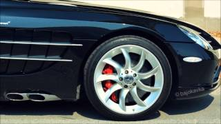 Mercedes Mclaren AMG SLR roadster  - Start up Exhaust sound HD and pictures