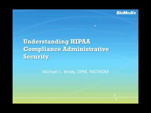 Understanding HIPAA Compliance   Administrative Security