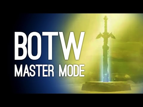 Breath Of The Wild Master Mode Gameplay: Getting The Master Sword! Lord Of The Mountain!