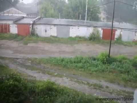 HAIL IN WESTERN SIBERIA ! ГРАД В ЗАПАДНОЙ СИБИРИ !