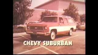 1973 Chevy Suburban Commercial - Chevy Laguna Wagon in Background