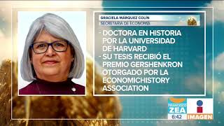 Quién es Graciela Márquez Colín, la nueva Secretaría de Economía | Noticias con Francisco Zea