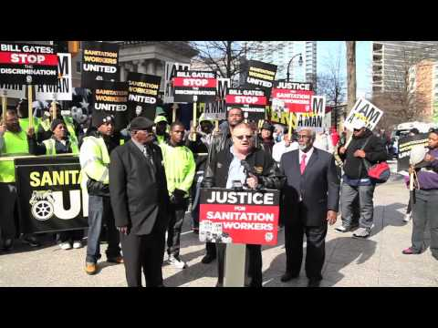 Memphis Republic Services Workers Participate in MLK March and Rally