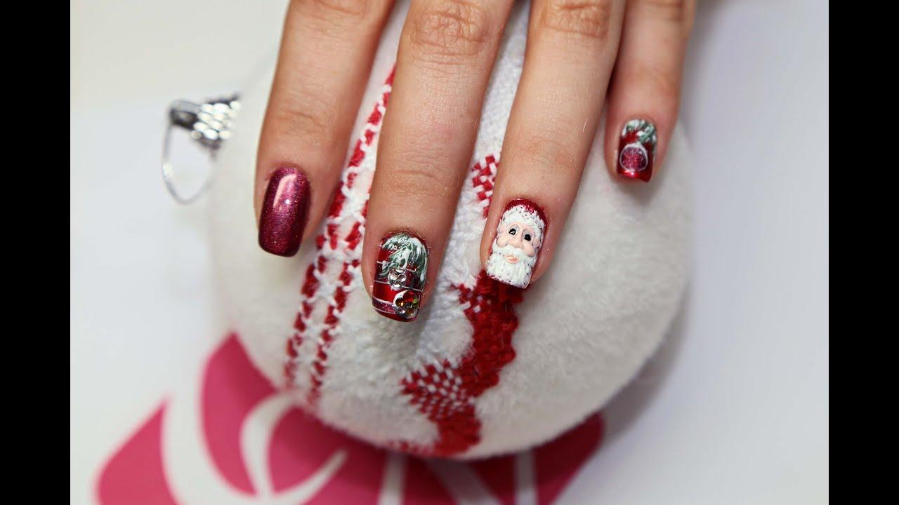 Master gabriela damian unghie per natale tutto in for Decorazioni natalizie unghie