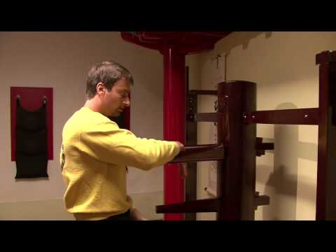 Sifu Sergio showing wooden dummy section one of Ip Man Wing Chun kung fu system