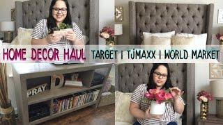 Home Decor Haul + Mini Apartment Tour Target, TJMaxx + More