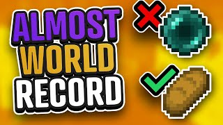 I had a Minecraft Speedrun World Record Seed... Then I tried to eat bread