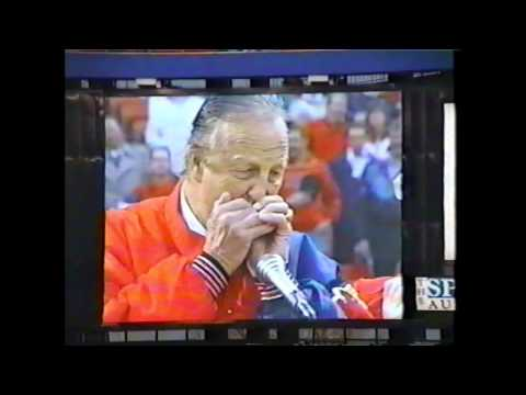 St Louis Cardinals Opening Day 1994 Stan Musial harmonica solo on anthem