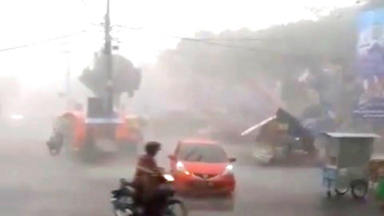 DECEMBER 2019: A Tornado Bring Destruction in Magetan, East Java, INDONESIA (Dec 12, 2019)