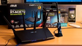 ASUS RT-AC87U 2.4Gbps WiFi router - the fastest router for the fastest fiber internet