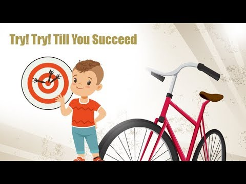 try and try until you succeed proverb