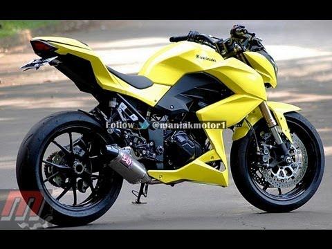 Kawasaki Z250 Custom Yellow Youtube